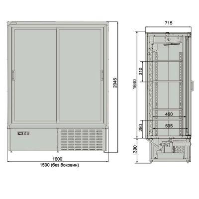 Чертежи шкафа холодильного Днепр 1,4 купе.