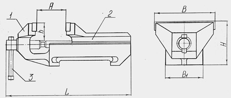 Тиски слесарные чугунные ТСЧ-250Н неповоротные (материал чугун СЧ20)