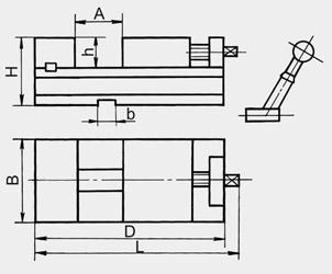 Тиски станочные стальные неповоротные 7202-0202-02, 7200-0205-02
