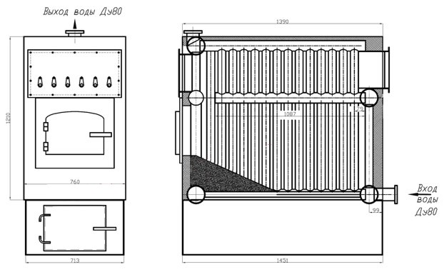 Схема работы котлов КВр-0