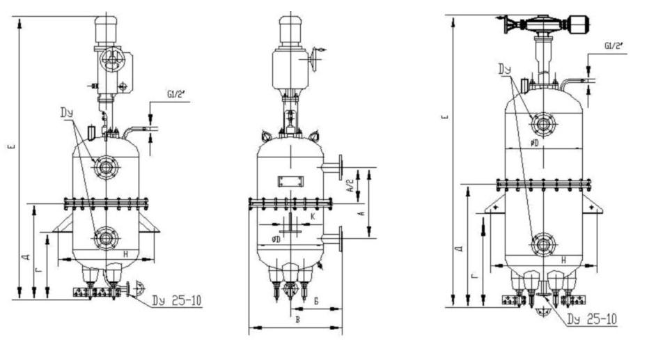 Схема с размерами электрокотла