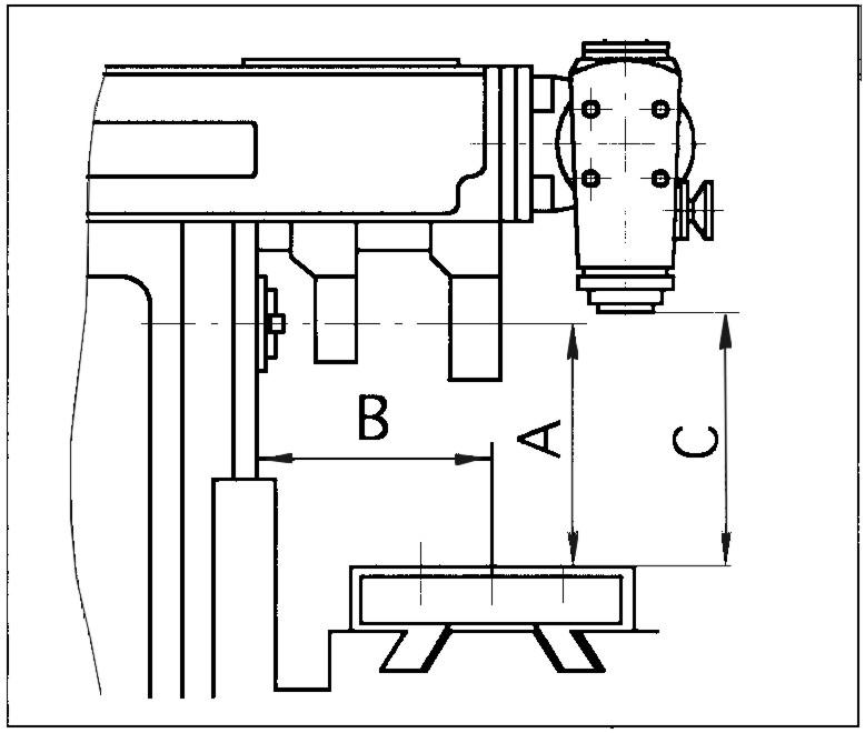 Схема с размерами фрезерного