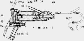 Пистолет для ошиповки шин HDP8 и HDP9