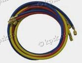 Заправочные шланги для манометрических коллекторов предназначены для работы с хладагентами - R-134-A, R-22, R-12